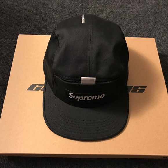 3a1e843fd33e Supreme Reflective Tab Pocket Camp Cap black